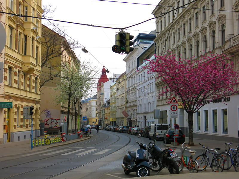 Street view from Vienna stock images
