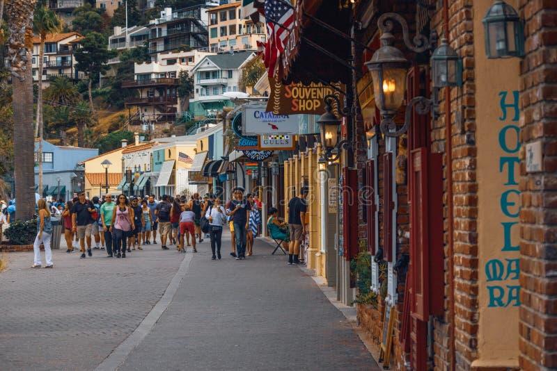 Street View von Avalon, Catalina Island, Kalifornien stockbilder