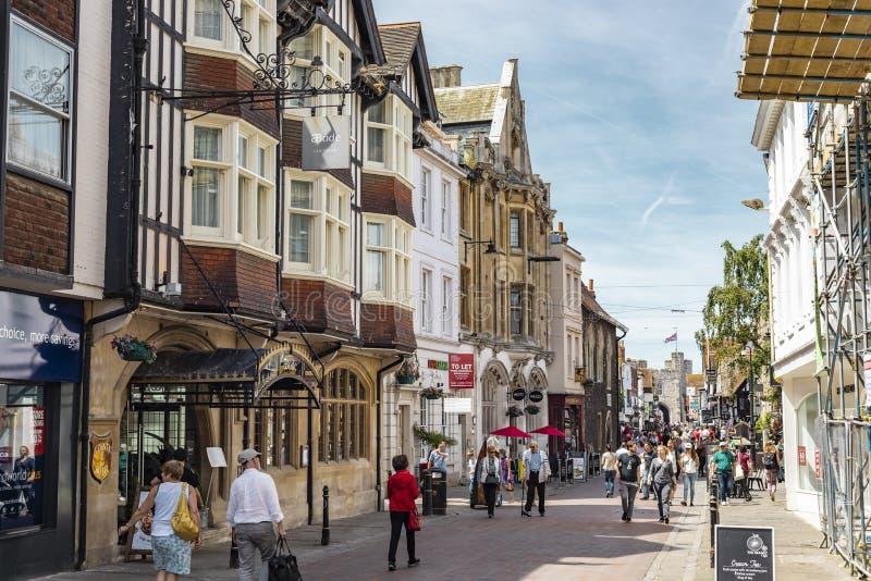Street View von Canterbury in England lizenzfreie stockfotografie