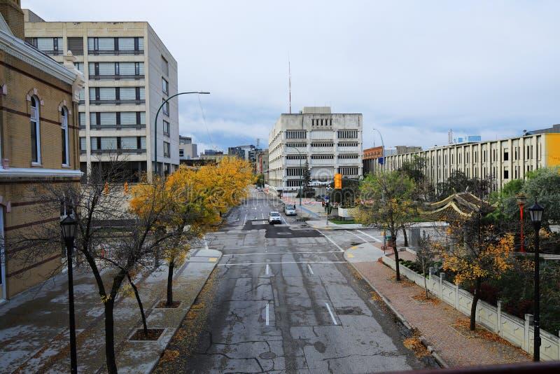 Street view in Winnipeg, Canada. A Street view in Winnipeg, Canada stock image