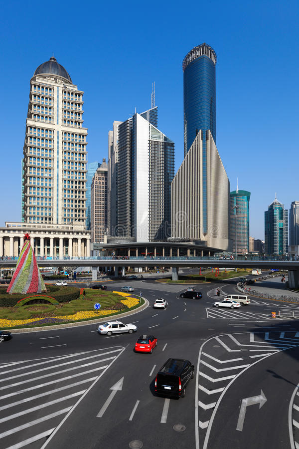 Street Views Of Shanghai Stock Photo