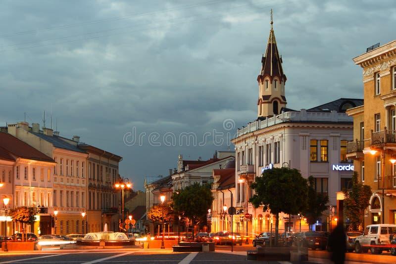 Street in Vilnius. stock photos