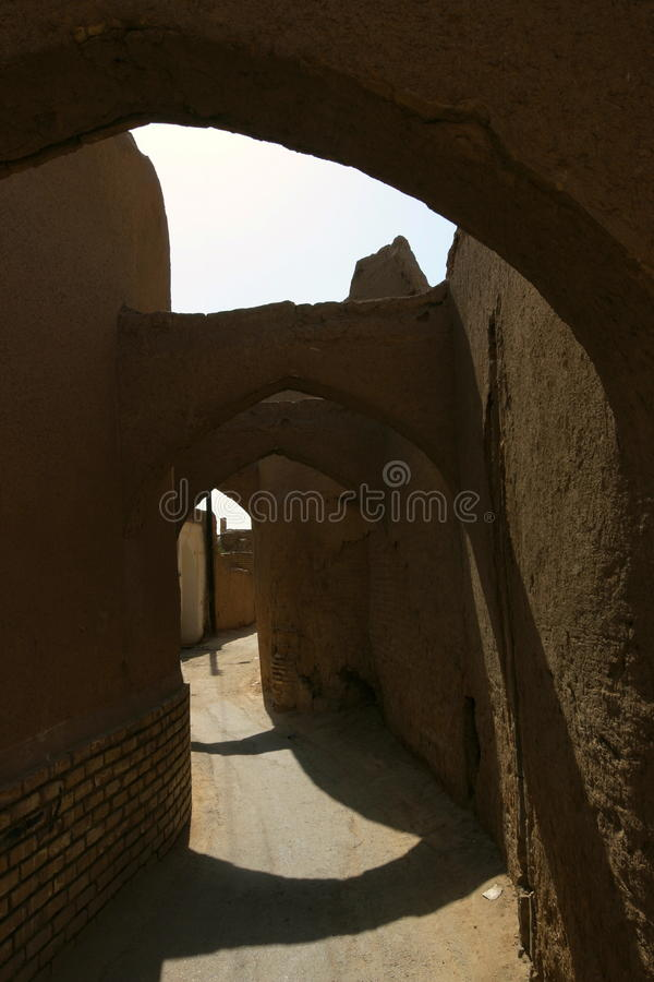 Download Street in Yazd, Iran stock image. Image of sunny, wall - 11824865