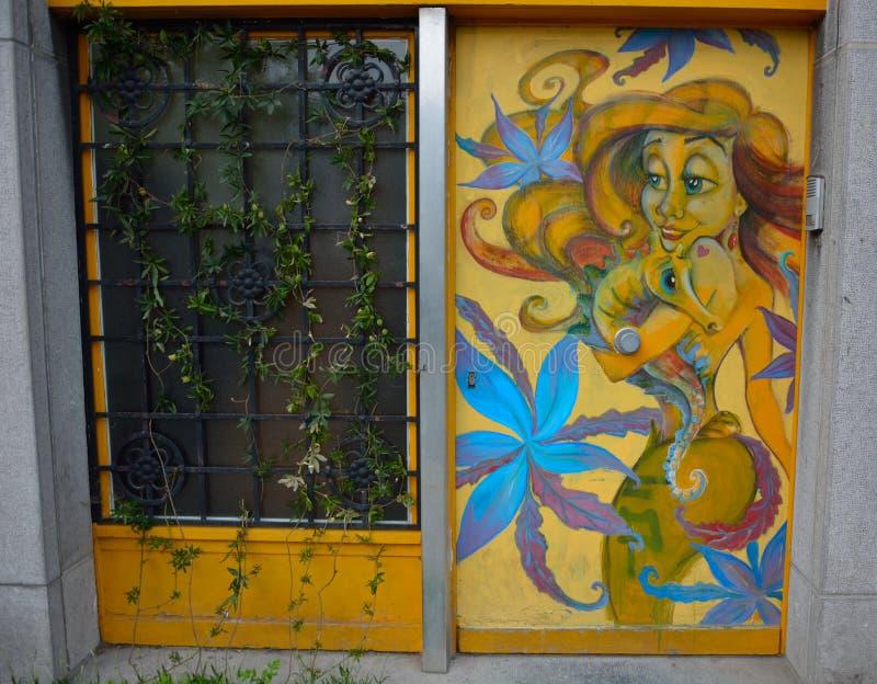 Streetart, chiffre de Walt Disney photos stock