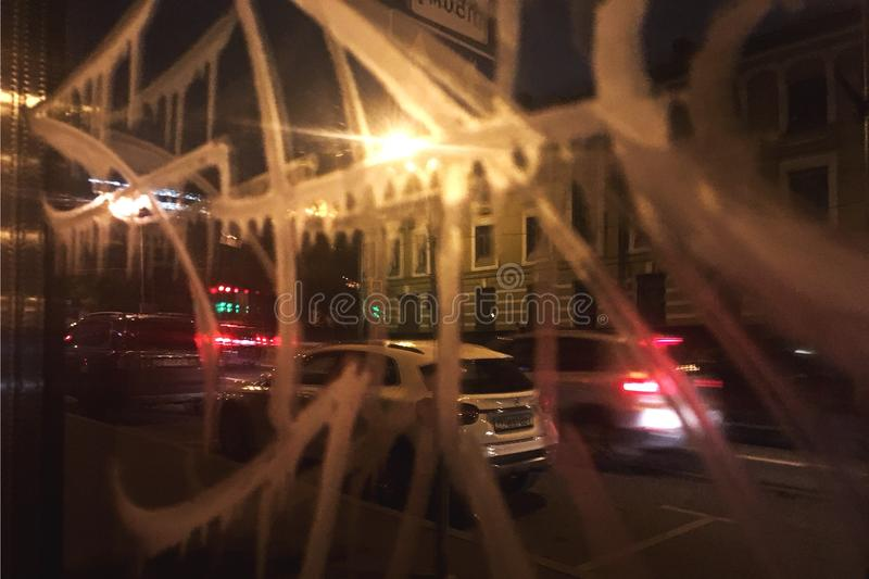 Streetart dans la rue de nighr de la ville de Moscou photos libres de droits