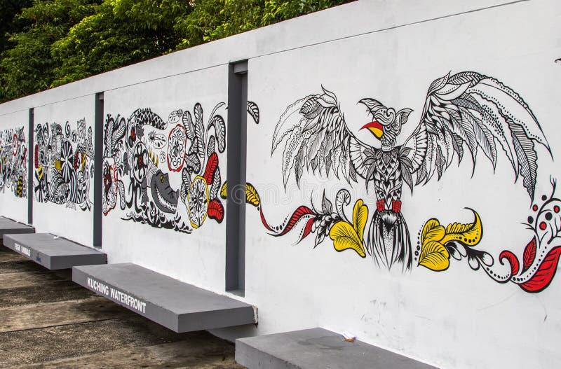 Streetart di Sarawak Kuching fotografie stock