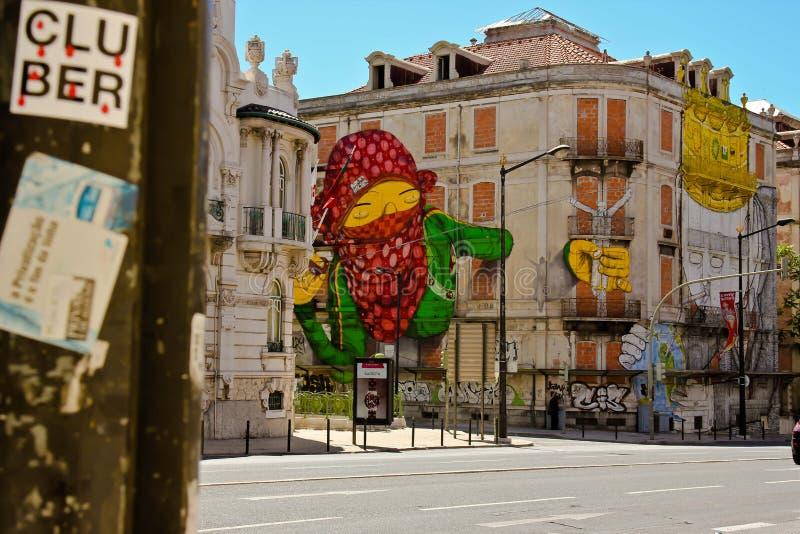 Streetart Haus Lissabon fotografía de archivo libre de regalías
