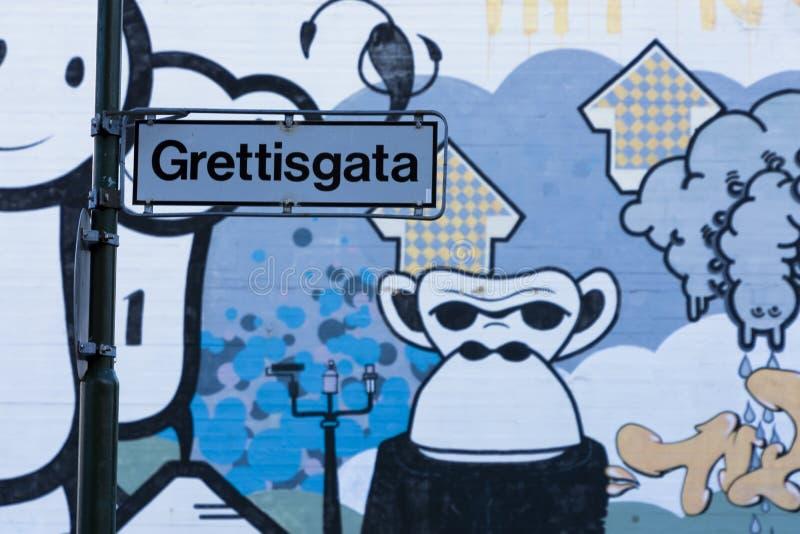 Streetart i Reykjavik arkivfoto