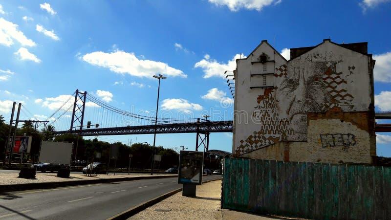 Streetart Lissabon royalty-vrije stock afbeeldingen
