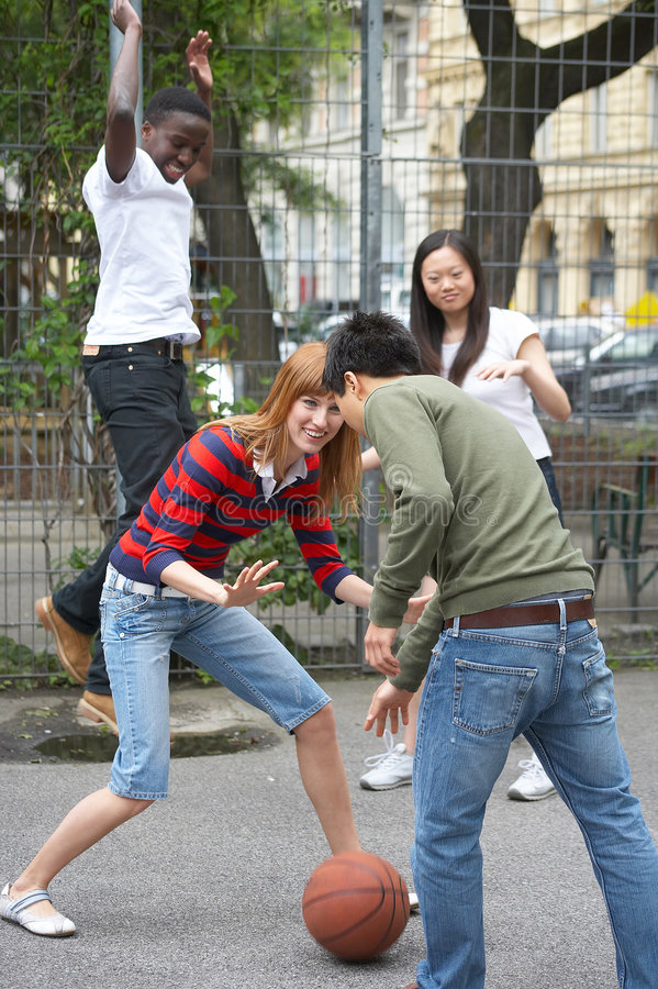 streetball zdjęcia stock