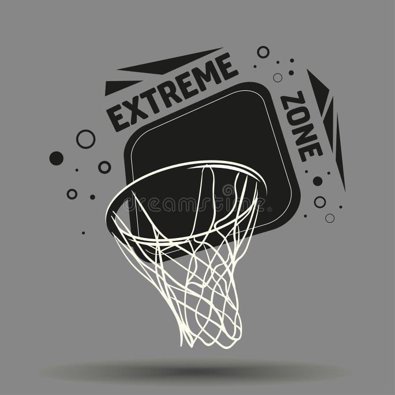 Streetball logo royaltyfri illustrationer