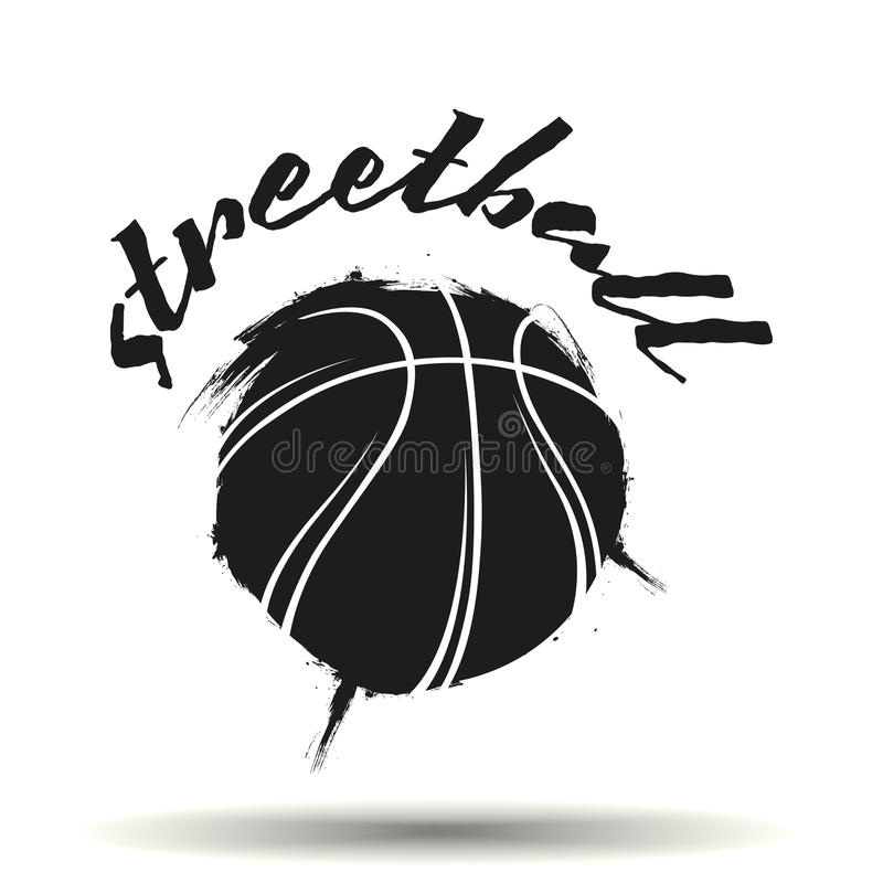 Streetball logo stock illustrationer