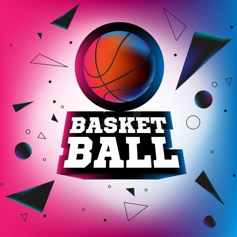 Streetball logo vektor illustrationer