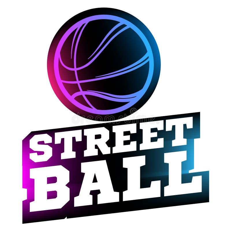 Streetballembleem vector illustratie