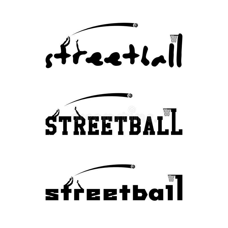 Streetballembleem voor het team en de kop royalty-vrije illustratie