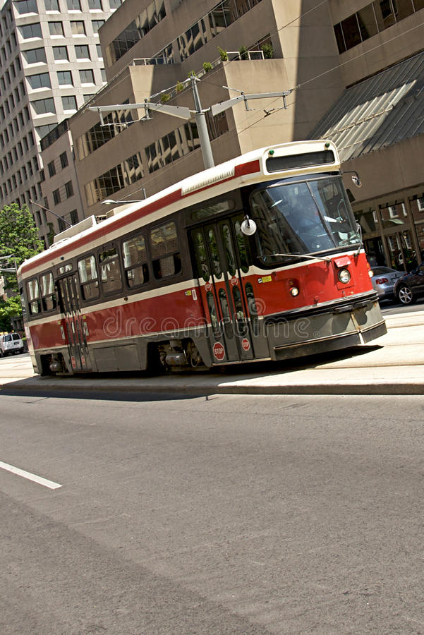streetcar toronto royaltyfria bilder