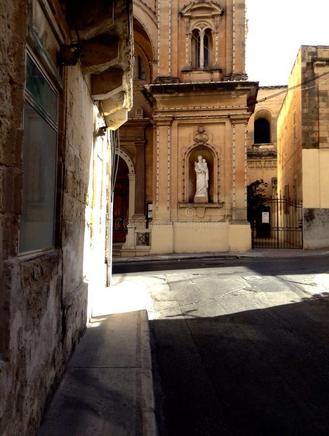 Streetcorner de Sliema foto de archivo libre de regalías