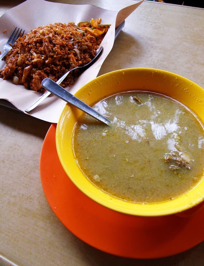 Streetfare de nourriture, Singapour images stock