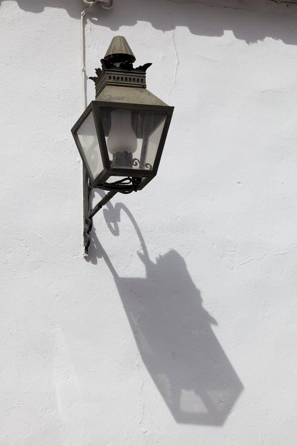 Streetlamp in Cordoba. Andalucia, Spain stock images