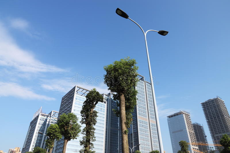 Download Streetlamp stock image. Image of china, cloud, office - 40520429