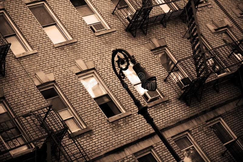 Streetlamp in New York royalty free stock photography