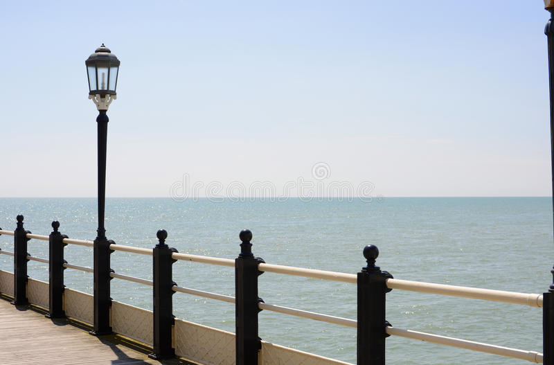 Download Streetlamp On Pier At Worthing. Sussex. England Stock Photo - Image: 42972302