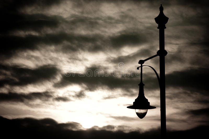 Download Streetlamp at sunset stock photo. Image of night, energy - 26135730