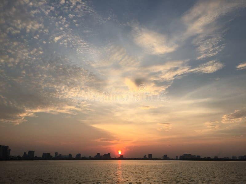 Streetlife,越南,生活,日落,西湖 库存照片