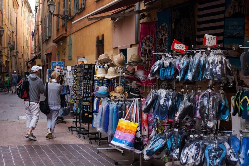 Streetlife Nice Frankrijk stock foto