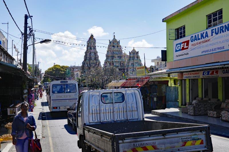 Streetlife van Goodlands - stad beroemd voor zijn authenticiteit, Mauritius stock foto's