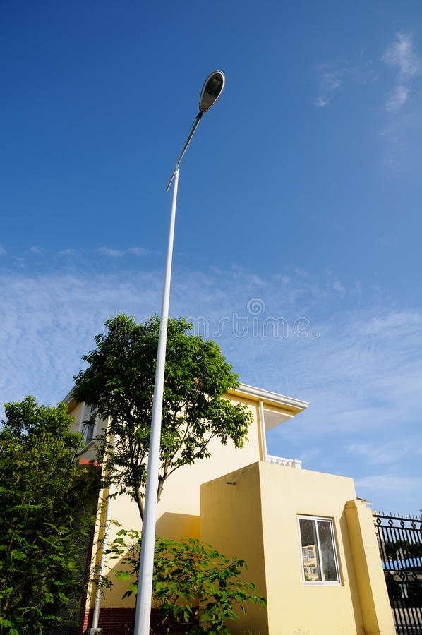 Streetlight In Blue Sky Royalty Free Stock Photography