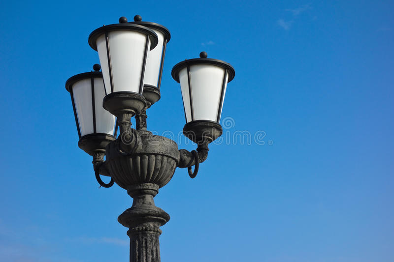 Streetlight. Close up of a streetlight stock images