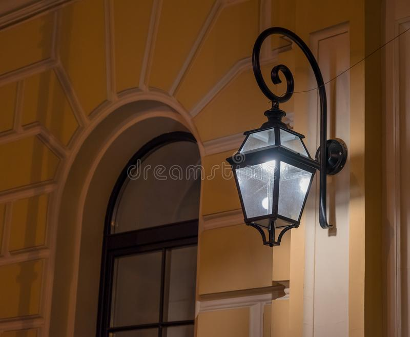 Streetlight close-up outdoor architecture detail royalty free stock photography