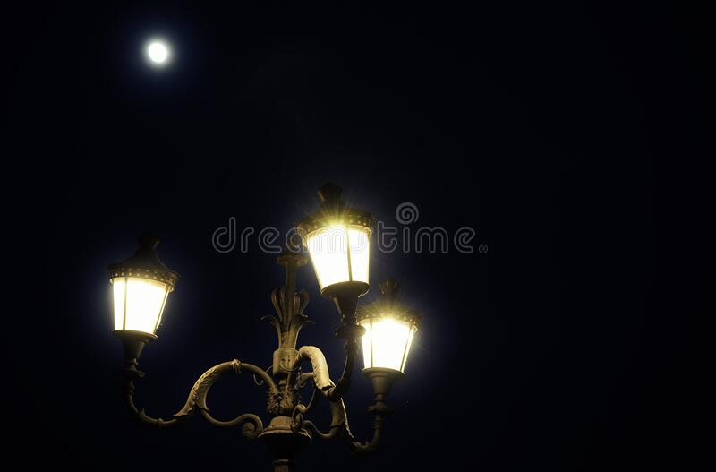 Streetlight Illuminated At Night Free Public Domain Cc0 Image