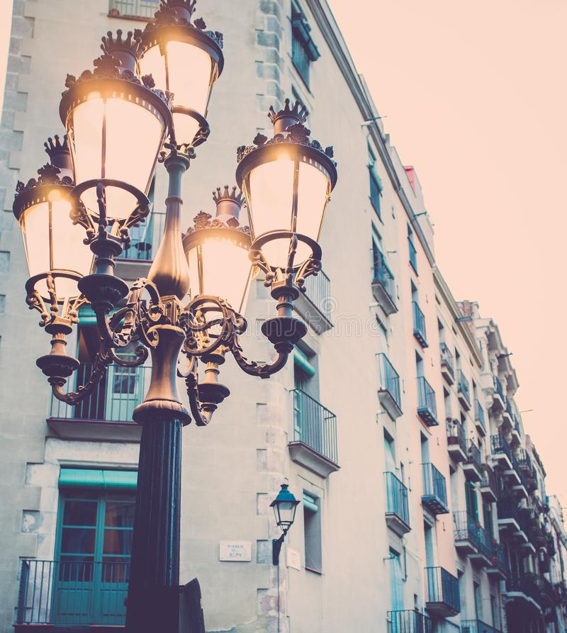 Free Streetlight In Barcelona Royalty Free Stock Images - 31263579