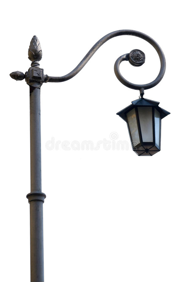 Streetlight isolated on white stock images