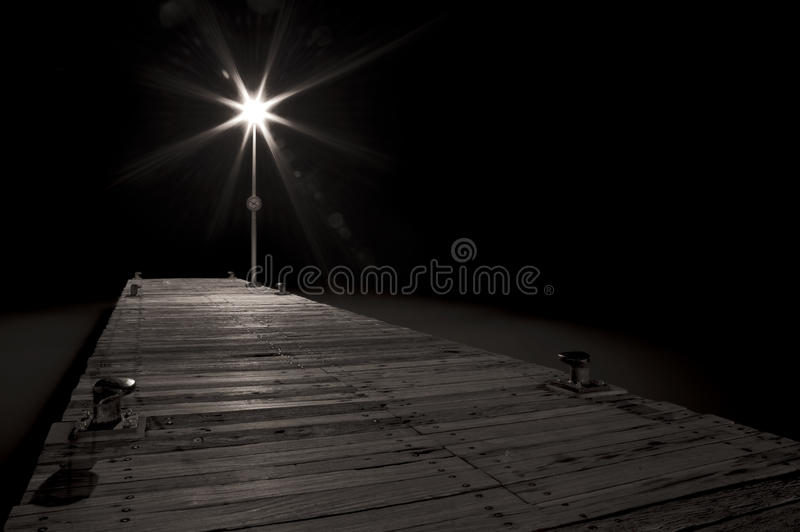 Download Streetlight of a pier stock image. Image of beach, night - 23208541