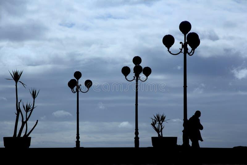 Streetlights w backlight obraz royalty free