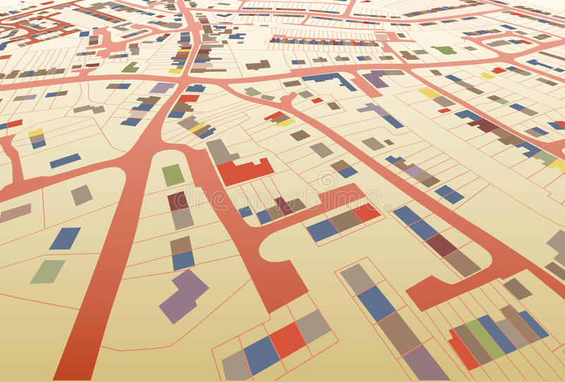 Streetmap perspective vector illustration
