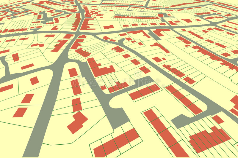 Streetmap perspective royalty free illustration