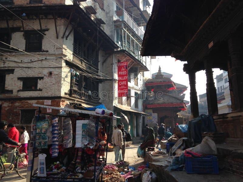 Streetphoto в Катманду стоковое фото rf