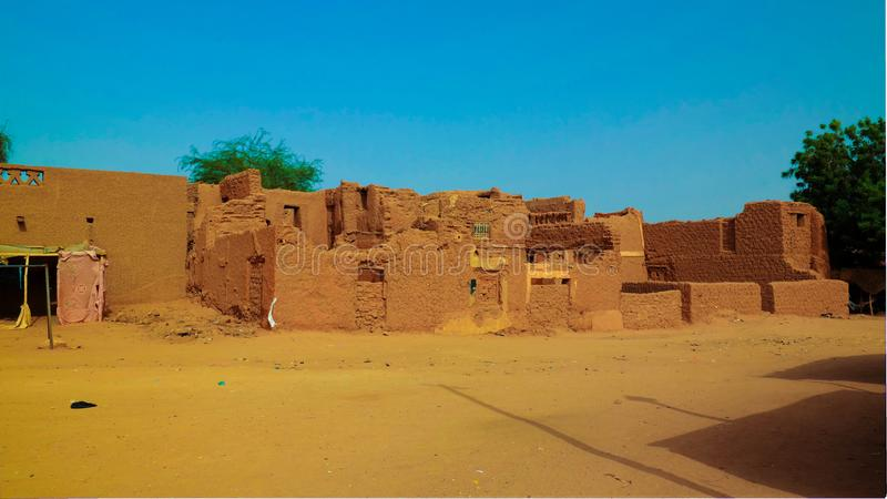 At the streets of Agadez old city, Niger. At the streets of Agadez old city in Niger stock image