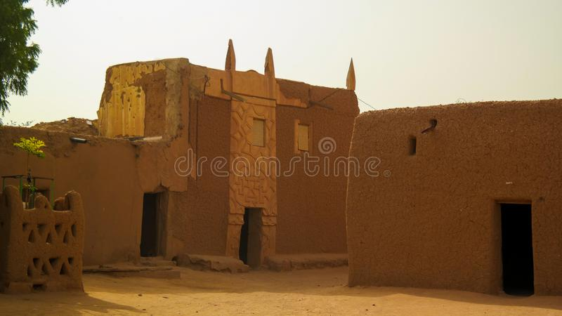 At the streets of Agadez old city, Niger. At the streets of Agadez old city in Niger stock photos