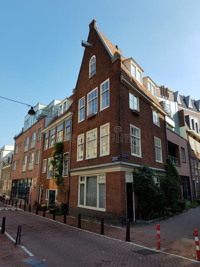 Streets of Amsterdam on a sunny bright day royalty free stock image