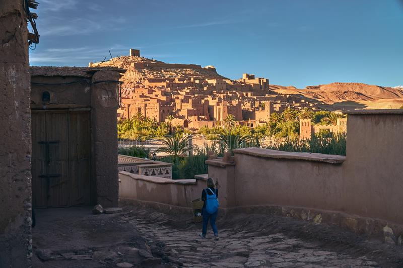 Streets of ancient Ait Ben Haddou royalty free stock image