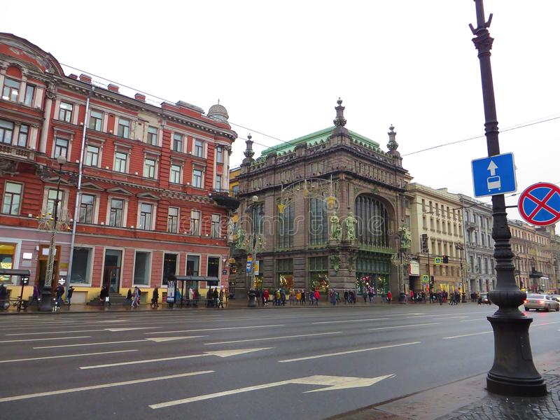 Streets of Petersburg. Russia. Tourist attraction stock photos