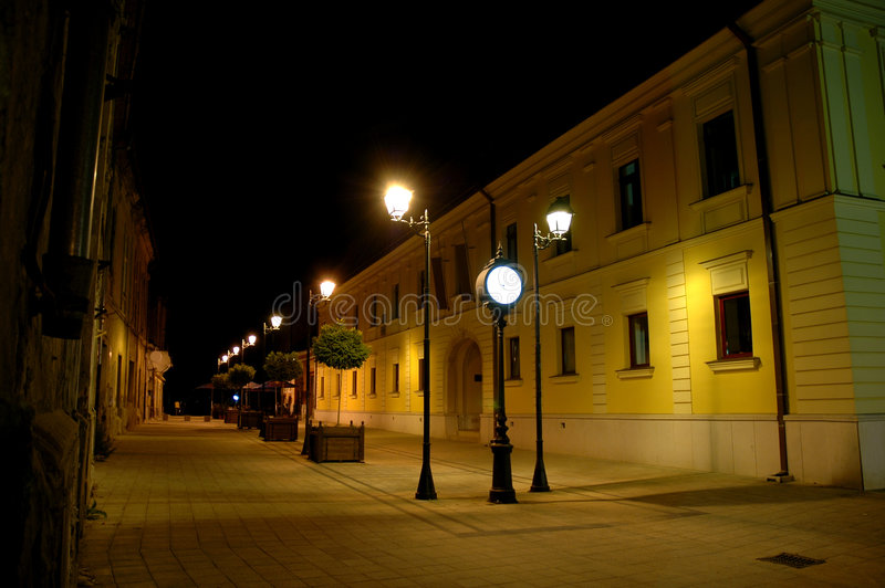 Streets of Baia Mare stock photo