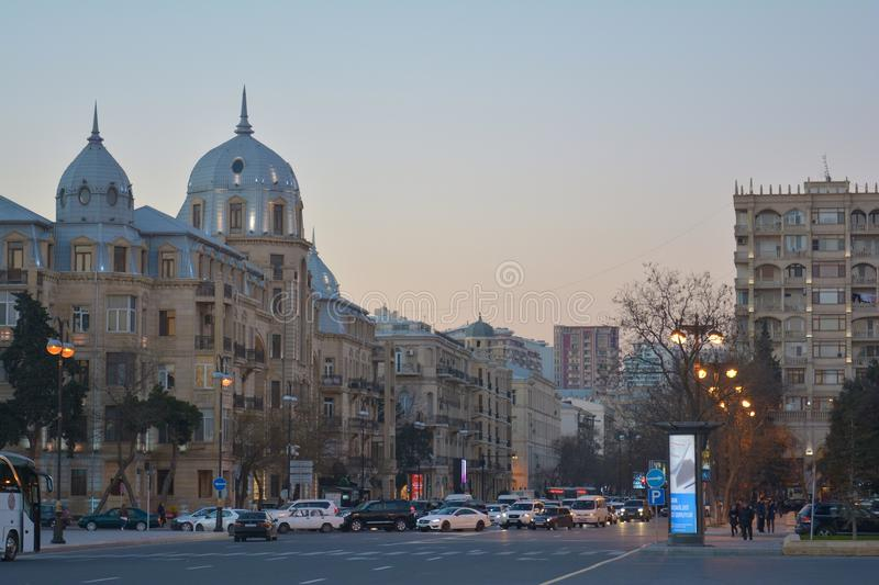 Streets of Baku royalty free stock photos