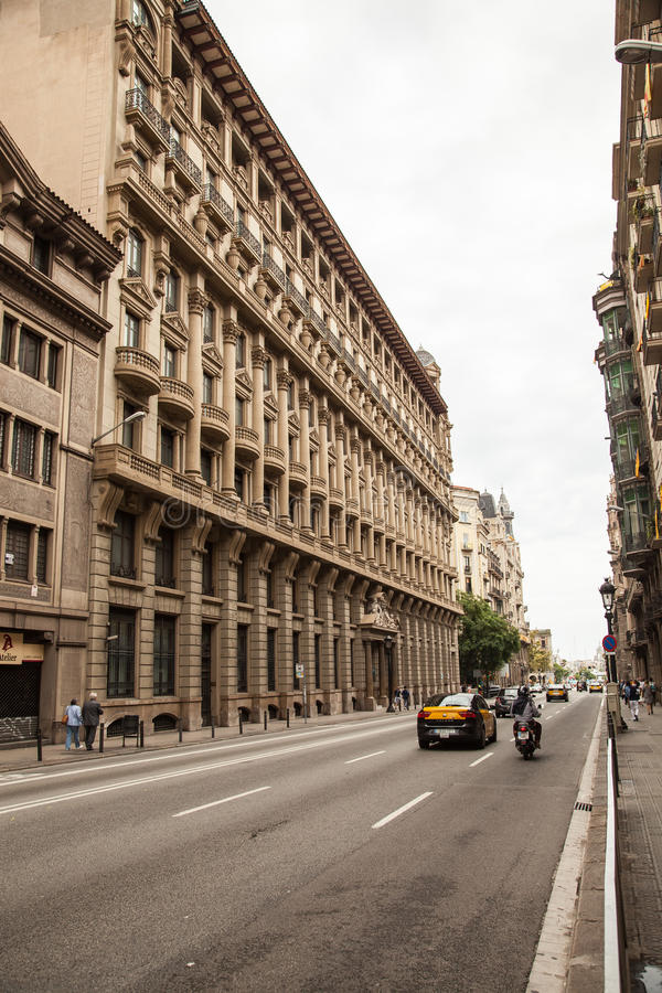 Streets of Barcelona stock photography