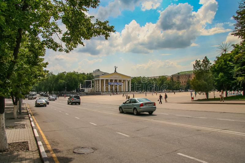Streets of Belgorod. On a hot summer day. Russian Federation. June 2012 royalty free stock photography